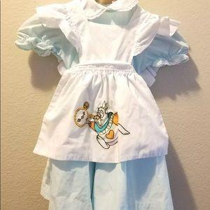 Vintage DISNEY STORE ALICE IN WONDERLAND DRESS 3T